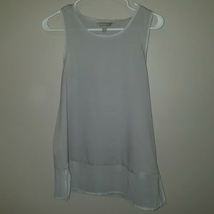 Silver Sleeveless Blouse
